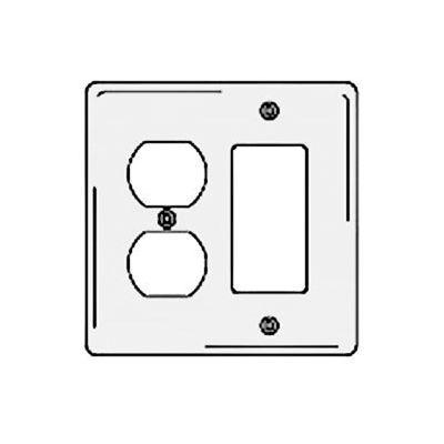Bryant NPJ826W Styleline Rectangular Plate, 3-Gang, Mid-Size, White Nylon, Duplex