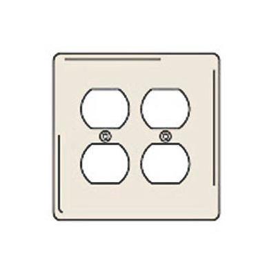 Bryant NPJ82LA Duplex Plate, 2-Gang, Mid-Size, Light Almond Nylon