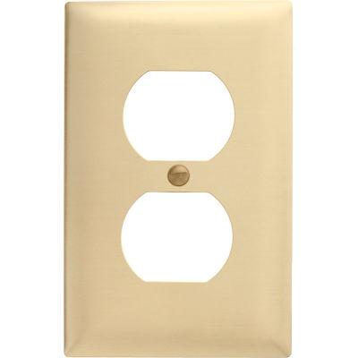 Bryant SB8 Duplex Plate, 1-Gang, Standard, Brass
