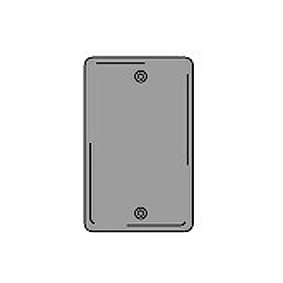 Bryant SCH13 Box Mounted Blank Plate, 1-Gang, Standard, Chrome Plated
