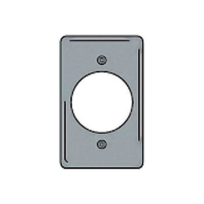 Bryant SCH723 Single Receptacle Plate, 1-Gang, Standard, Chrome Plated, 2.15 open