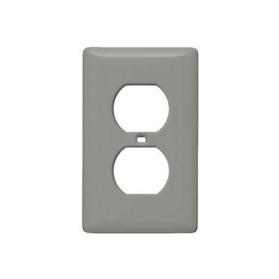 Bryant SCH8 Duplex Plate, 1-Gang, Standard, Chrome Plated