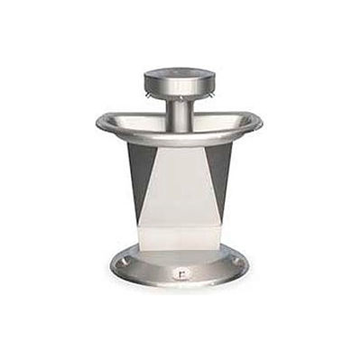 Bradley Corp® Wash Fountain, Semi-Circular, Off-line Vent, Series SN2003, 3 Person