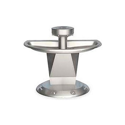 Bradley Wash Fountain, Semi-Circular,Raising Vent, Series SN2004, 4 Person