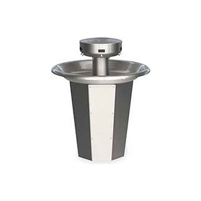 Bradley Corp® Wash Fountain, Circular, 110/24 VAC, Series SN2005, 5 Person