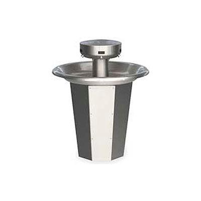 Bradley Wash Fountain, 110/24 VAC, Circular, Series SN2005, 5 Person