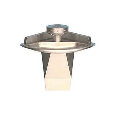Bradley Corp® Wash Fountain, Corner, Raising Vent, Series SN2013, 3 Person Sink