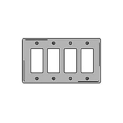 Bryant SS264 Styleline Rectangular Plate, 4-Gang, Standard, Satin Stainless