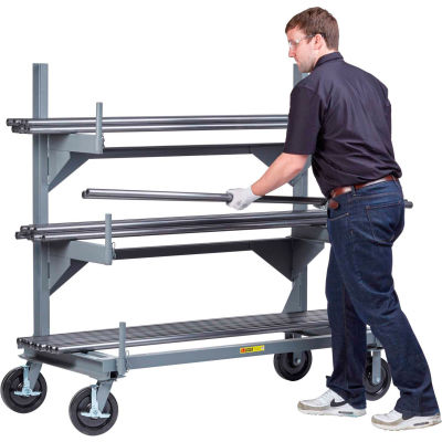 "Little Giant® Mobile Cantilever Bar Rack, 4000 lbs. Cap, 51"" OAH, 24"" x 48"" Base"
