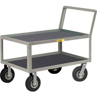 Little Giant® Low Deck Instrument Cart w/Non-Slip Vinyl Shelf Surface, 24 x 48