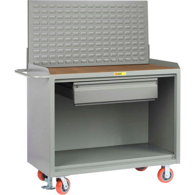 """Little Giant MH-2448-HDFL-LP 48""""W x 24""""D Mobile Service Bench, Drawer, 1/4"""" Hardboard Top"""