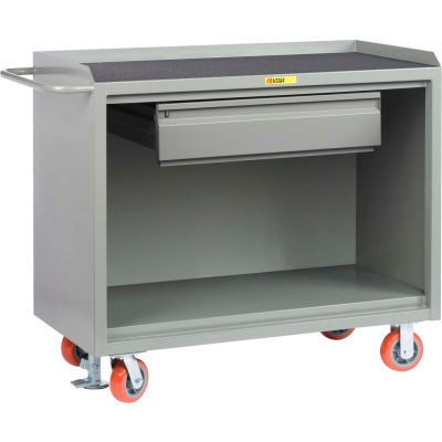 "Little Giant MM-2448-HDFL Mobile Bench Cabinets, Heavy-Duty Drawer, Non-Slip Vinyl Top 48""W x 24""D"