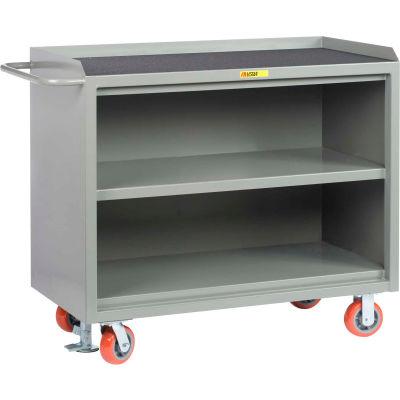 """Little Giant MM3-2448-FL Mobile Bench Cabinets, Center Shelf, Non-Slip Vinyl Top 48""""W x 24""""D"""