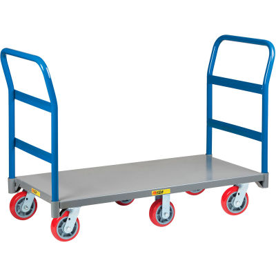 Little Giant® 6-Wheel Platform Truck NB6W3072-6PY-2H - 30 x 72 - 2 Handle - 3600 Lb. Capacity