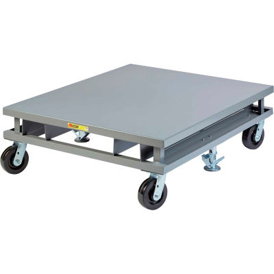 Little Giant® Solid Deck Pallet Dolly with Fork Pockets PDS-48-6PHFP - 3600 Lb. Cap. - 48 x 48