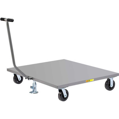 Little Giant® Pallet Dolly PDST-4248-6PHFL with T-Handle - Solid Deck - 42 x 48 & Floor Lock