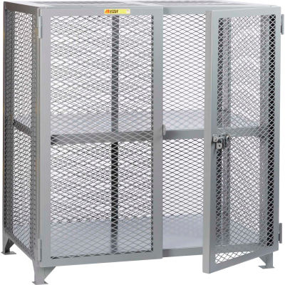 "Little Giant® Welded Storage Locker w/Adjustable Center Shelf, Mesh Sides, 49""W x 33""D x 52""H"