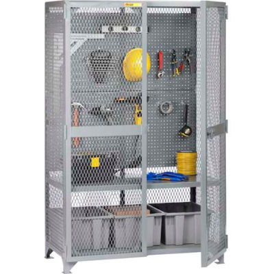 "Little Giant® Tool Storage Cabinet w/Pegboard, 61""W x 27""D x 78""H"