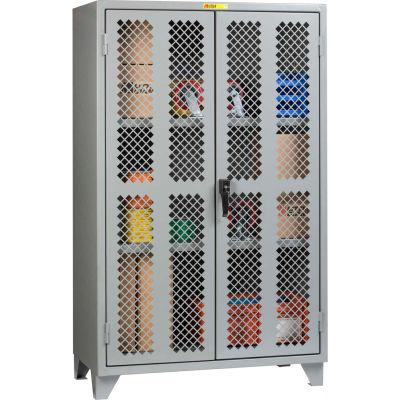 "Little Giant® High Visibility Storage Cabinet w/ 2 Adj. Shelves, 48""W x 26""D x 78""H"