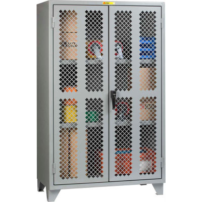 "Little Giant® High Visibility Storage Cabinet w/ 2 Adj. Shelves, 60""W x 32""D x 78""H"