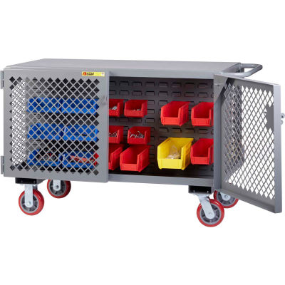 Little Giant 2-Sided Mobile Maintenance Cart ST-2448-6PY-LP - Louvered Panel, 3600 Lbs. Capacity