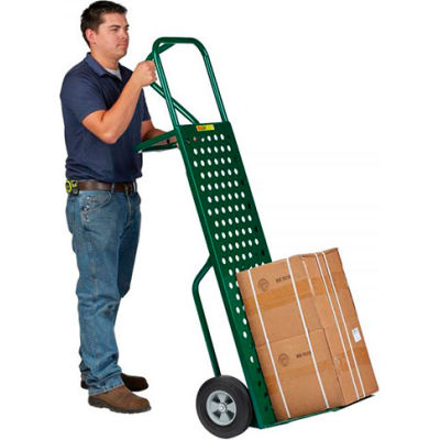 """Little Giant® Perforated Deck Hand Truck T-640-10 - 16""""W x 25""""L - 10"""" Solid Rubber Wheels"""