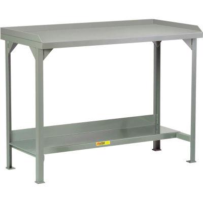 """Little Giant® Welded Steel Workbench - Steel Top Back/End Stops - 48""""W x 30""""D x 36""""H"""