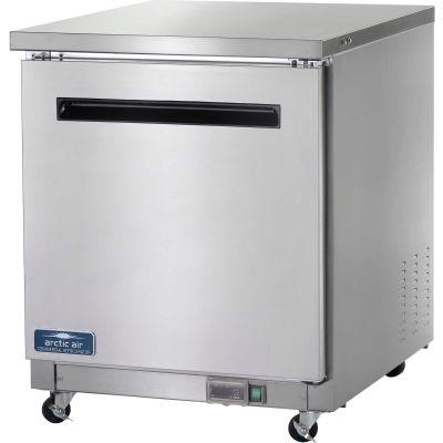 """Arctic Air AUC27R - Undercounter Refrigerator, 1 Door, White, 6.5 Cu. Ft., 28""""W x 30""""D x 35-3/4""""H"""