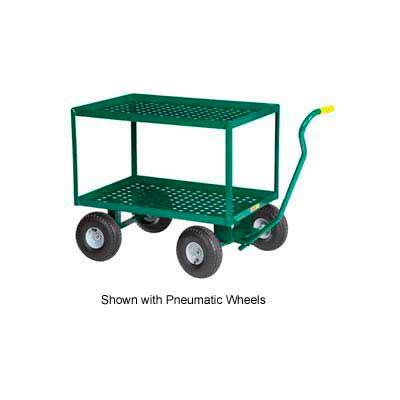 """Little Giant® 2 Shelf Nursery Wagon Truck 2LDWP-2436-10-G - 24 x 36 - 10"""" Rubber Wheels"""