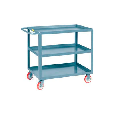 Little Giant® All Welded Service Cart 3LGL-1824-BRK, 3 Lip Shelves, 18 x 24