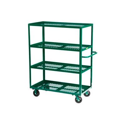 Little Giant® Multi-Shelf Nursery Cart 4MLP-3060-6MR-G, 4 Shelf, 30 x 60