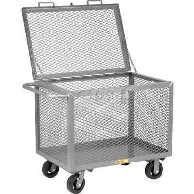 Little Giant® Box Truck with Hinged Lid BTXL2436-6MR, Expanded Metal Sides, 24 x 36
