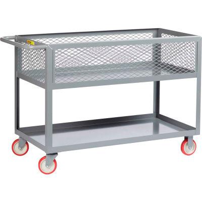 "Little Giant® 12""D Shelf Truck w/Mesh Sides,1200 lbs., 24x36, 5"" Poly Wheels"