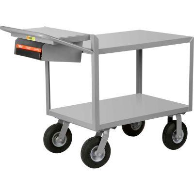 Little Giant® Instrument Cart w/Writing Shelf, Flush Shelves, 24 x 48