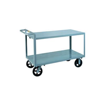 Little Giant® Merchandise Collector G-3060-8PYBK Flush Shelves 30 x 60 Poly Wheels with Brake