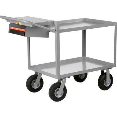 Little Giant® Instrument Cart w/Writing Shelf, Lip Shelves, 24 x 36