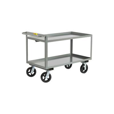 Little Giant® Merchandise Collector GL-3060-8PYBK Tray Type Shelves 30x60 Poly Wheels Brake