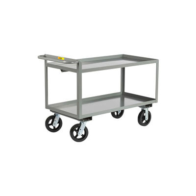 Little Giant® Merchandise Collector GL-2436-6MR Tray Type Shelves 24x36 6x2 Rubber Wheels