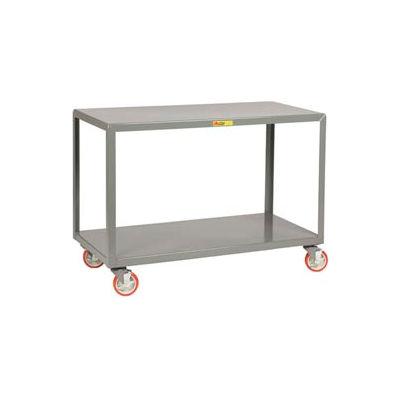Little Giant® Mobile Table IP-1832-2BRK, 2 Shelf, 18 x 32, Wheel Brakes