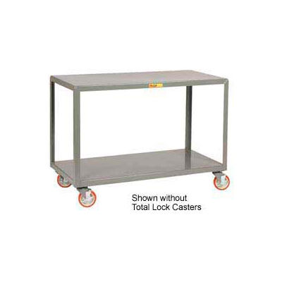 Little Giant® Mobile Table IP-3060-2TL, 2 Shelf, 30 x 60, Locking Casters