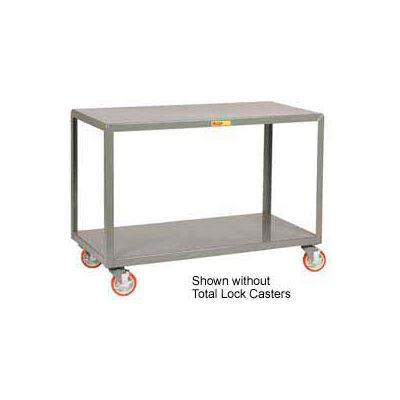 Little Giant® Mobile Table IP-3072-2TL, 2 Shelf, 30 x 72, Locking Casters