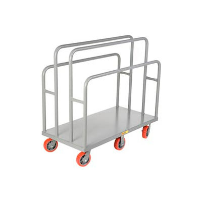 Little Giant® Lumber & Panel Cart LC-3048-6PY, 30 x 48, Polyurethane Wheels