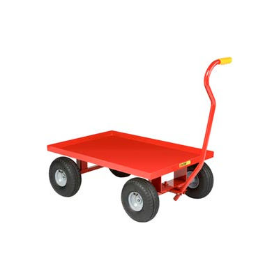 Little Giant® Nursery Wagon Truck LW-2436-10P - Steel Deck - 10 x 3.50 Rubber Wheel