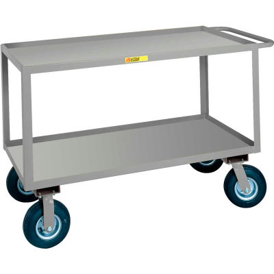 Little Giant® Flush Handle Instrument Cart, Lip Shelves, 30 x 48