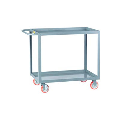 Little Giant® All Welded Service Cart LGL-3060-BRK, 2 Lip Shelves, 30 x 60