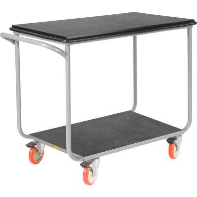 Little Giant® Mobile Instrument Cart, Tubular Frame 24x36 Poly Locking Whls