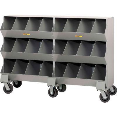 """Little Giant® Heavy Duty Steel Mobile Storage Bins MS8-1564, 24 Openings 64""""L x 20""""W x 45-1/2""""H"""