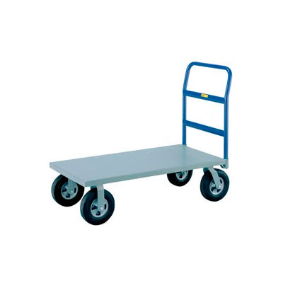 Little Giant® Heavy Duty Platform Truck NBB-3672-8PYBK - 36 x 72 - Poly Wheels - 3600 Lb. Cap.