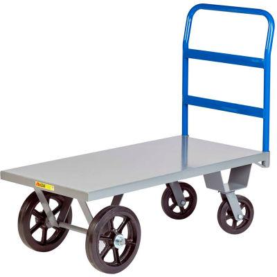 Little Giant® Heavy Duty Platform Truck NBH-2448-MR - 24 x 48 - Rubber Wheels - 3000 Lb. Cap.