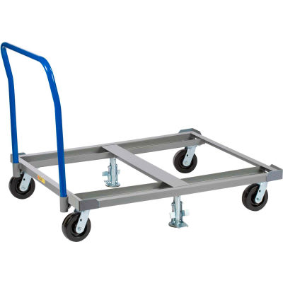 Little Giant® Pallet Dolly with Handle PDH42-6PH-2FLLR - 42 x 48 Open Deck & Floor Locks